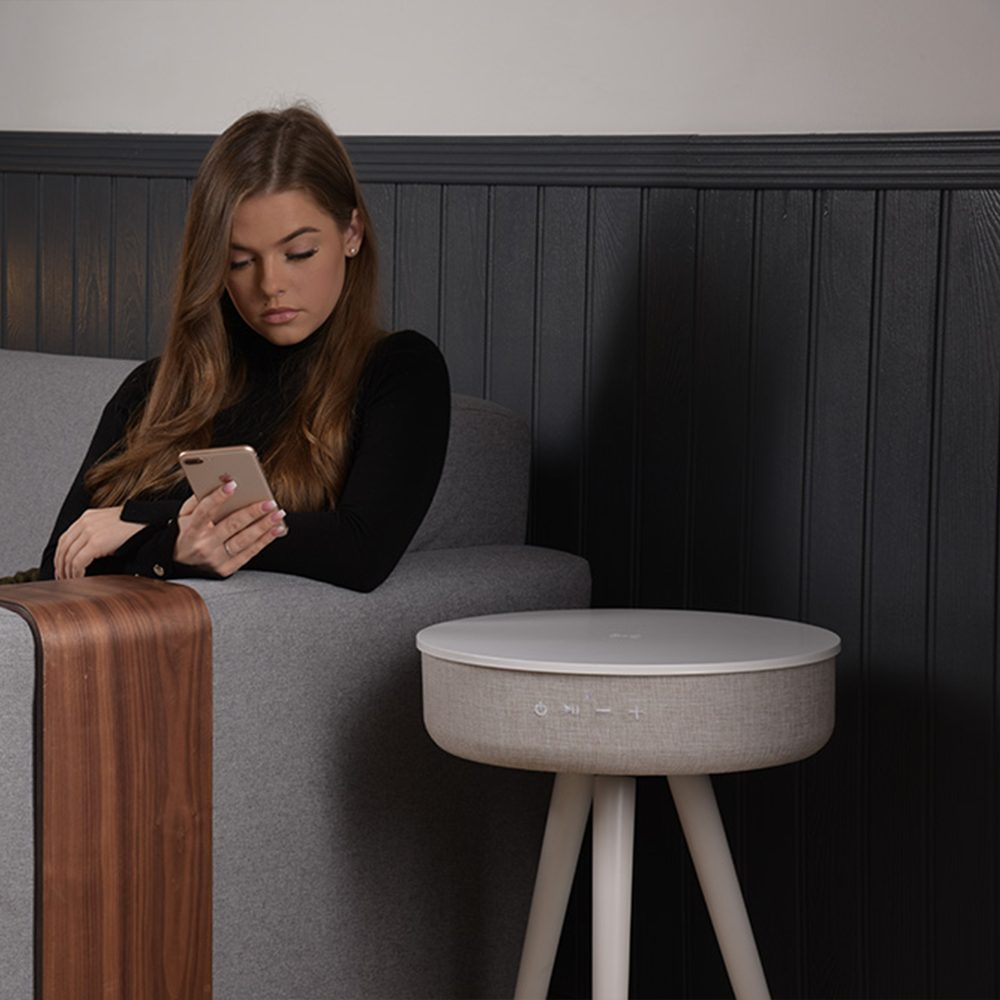 Milo Smart Side Table That charges any wireless smartphone
