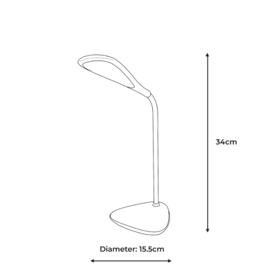 Elliptical Wireless Charging Lamp