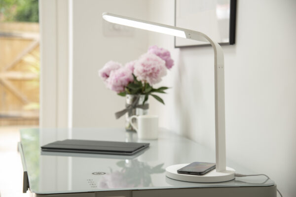 Arc Wireless Charging Desk Lamp - White