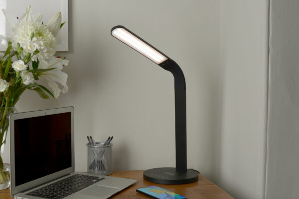 Arc Wireless Charging Desk Lamp - Black